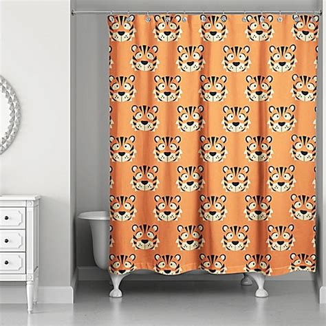 designs direct tiger face friend   shower curtain