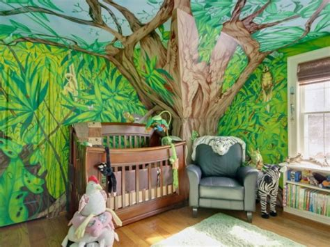 décoration chambre bébé jungle deco chambre bebe theme jungle deco maison moderne