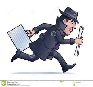 Cartoon Spy with Briefcase