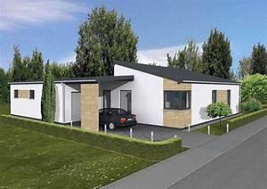 Bungalow Mit Pultdach : moderner bungalow nova dialuxe massivhaus berlin ~ Lizthompson.info Haus und Dekorationen