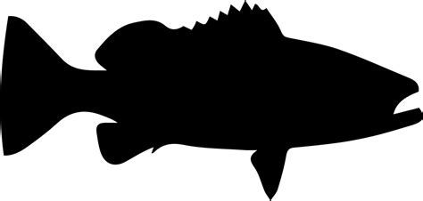 grouper svg icon fish silhouette shape file warsaw onlinewebfonts getdrawings