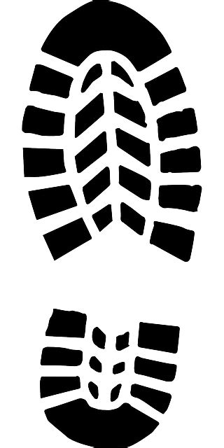 clipart sole footprint tracks boot 183 free vector graphic on pixabay