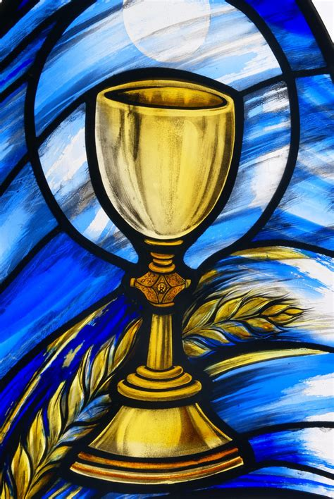 St Colman's Eucharist stained glass window | Stained glass ...
