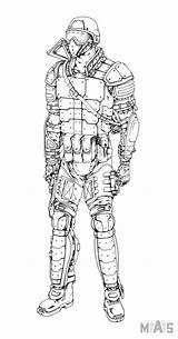 Strike Counter Kleurplaat Character Swat Coloring Fantasy Hero Apocalypse Characters sketch template