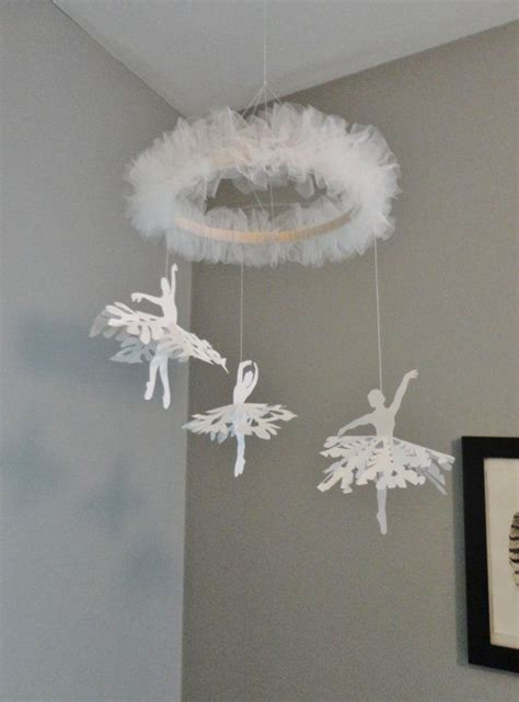 dance   snowflakes ballerina mobile  girls