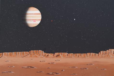 """Jupiter from Callisto"" Jupiter as seen from the surface ..."