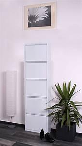 Schuhschrank Metall Weiß : schuhschrank schuhkipper schuhkommode wei metall 5 klappen neu 32505 ebay ~ Indierocktalk.com Haus und Dekorationen
