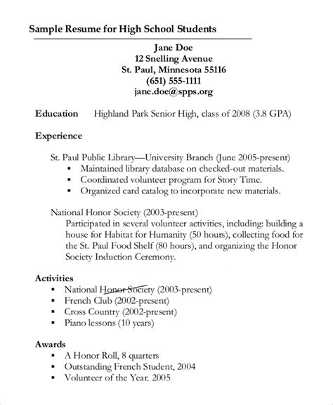Resume Outline by Sle Resume Outline 8 Exles In Pdf Word