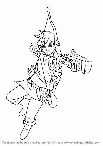 Zelda Breath Wild Link Legend Draw Step