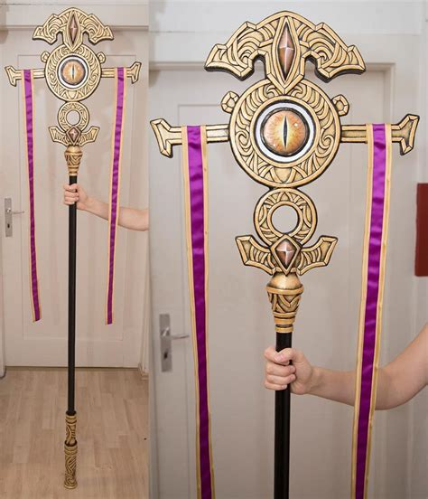 purple wizard staff kamuicosplay