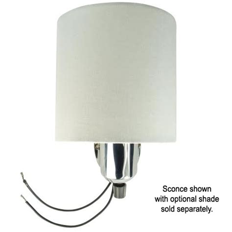 clip on half shade for wall sconce