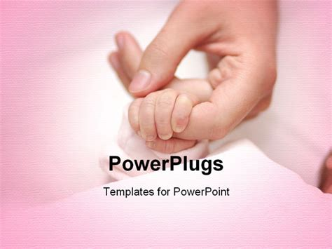 powerpoint template  adult female hand holding  babys