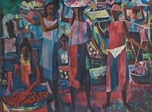 Market Vendors, 1949 - Vicente Manansala - WikiArt.org