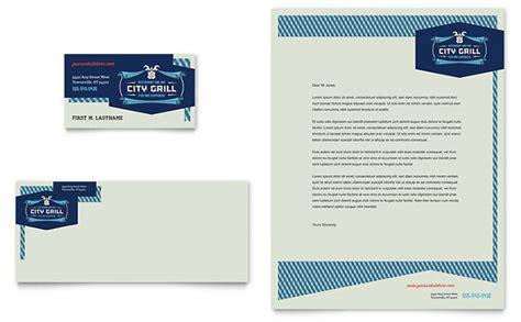 fine dining restaurant business card letterhead template