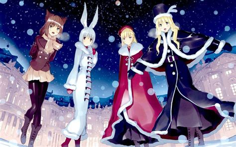 Wallpaper Hp Anime - winter anime wallpapers wallpaper cave