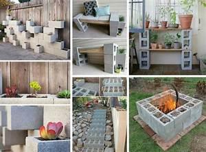 Déco Exterieur Jardin : bloc b ton pour la d co de jardin en 30 id es cr atives ~ Farleysfitness.com Idées de Décoration