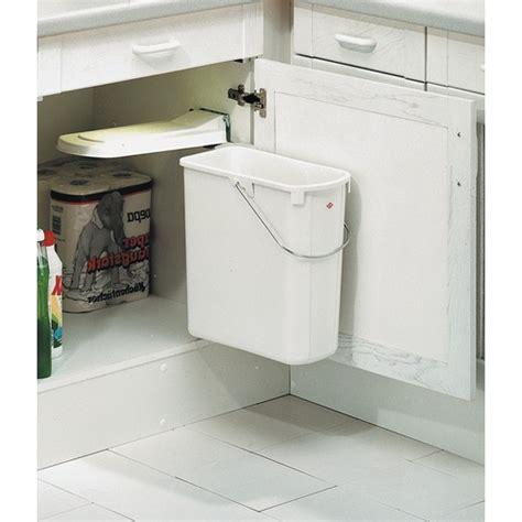 poubelle cuisine poubelle de porte de cuisine 1 bac de 19 litres bricozor