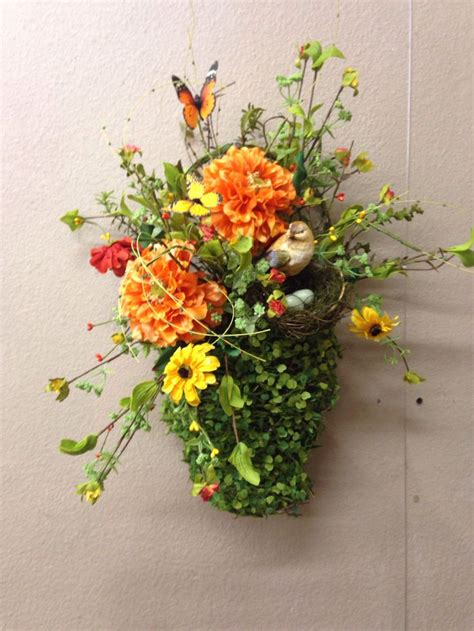 wall flower arrangements 1000 images about door basket on wall basket 3309