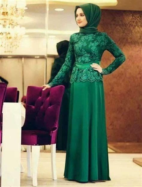 baju pesta muslimah modern bahan brokat hijab hijabtutorial hijabindonesia busanamuslim www