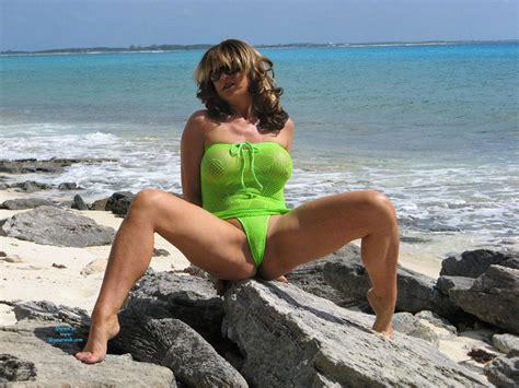 Nude Anna At Beach Wearing Sexy Bikini June