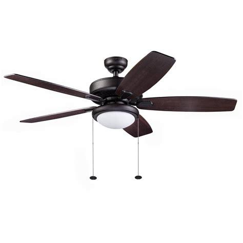 Honeywell Blufton Outdoor Ceiling Fan, Bronze, 52 Inch
