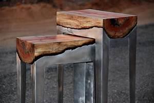Metal And Woods : beautiful handmade furniture fuses aluminium and wood ~ Melissatoandfro.com Idées de Décoration