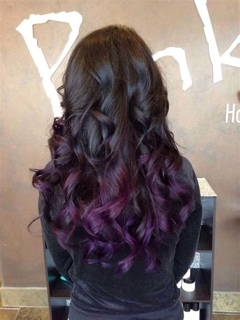 hair dye style black with purple ombr 233 curls want hairstyles 6514