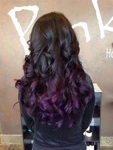Black with purple ombré curls = WANT | H A I R S T Y L E S ...