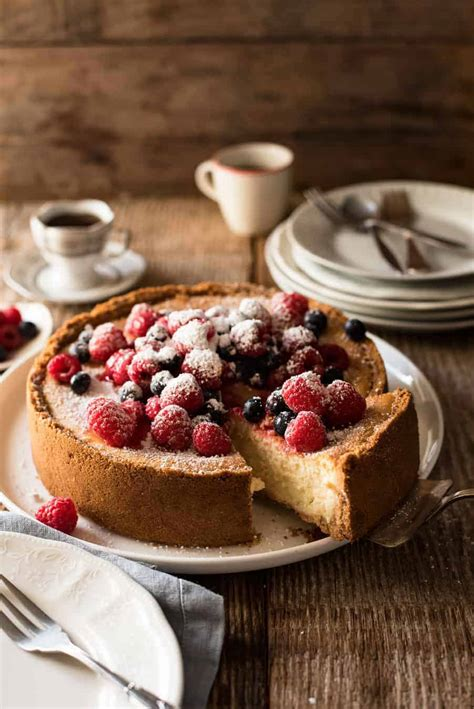easy classic baked cheesecake recipetin eats