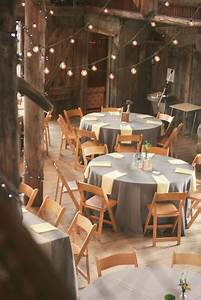 Rustic Chic Wedding Reception Setting With Wooden Chairs