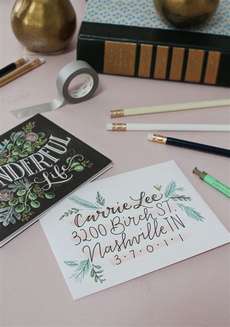 5 Holiday Card Envelope Decorating Ideas Hand lettering