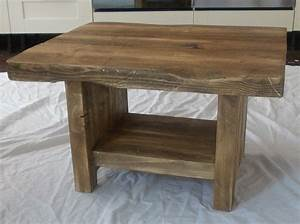 rustic chunky coffee table with shelf 038 With chunky rustic coffee table