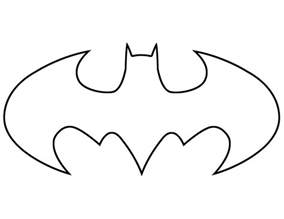 basketball cake topper batman symbol template clipart best