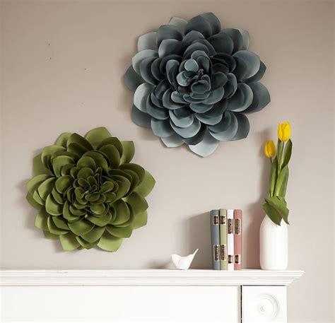 Wall Flowers Decor - dahlia wall flower decoration by lorna syson