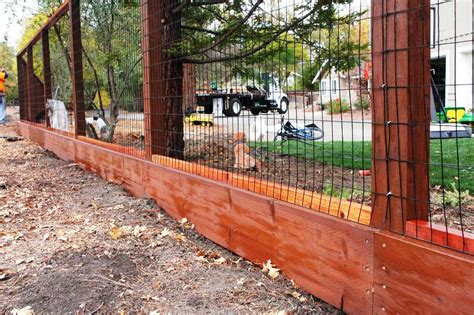 Wood And Wire Fence Panels Ideas