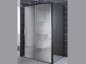 miroir douche ziloofr With porte de douche coulissante avec miroir salle de bain sans buee