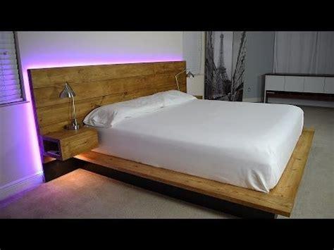diy platform bed  floating night stands