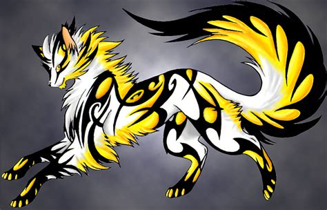 Lightning Wolf With Wings Gallery