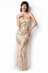 Robe Année 20 Vintage : robe vintage ann e 20 ivoire et or marilyn au rendez vous des pin up ~ Nature-et-papiers.com Idées de Décoration