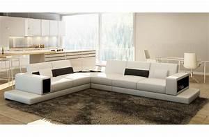 canape d39angle en cuir italien 6 7 places loft blanc With canapé d angle en cuir 6 7 places