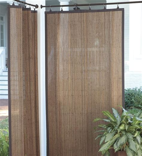 outdoor curtain panels outdoor bamboo curtain panel 40 quot w x 63 quot l collection