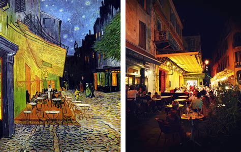 cafe terrace at 7 places from paintings that you can visit in real
