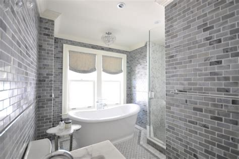 gray subway tile transitional bathroom meredith