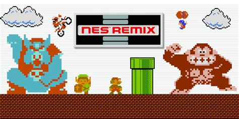 nes remix wii   software games nintendo