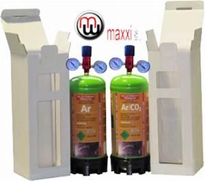 MaxxiLine Argon cylinders 1l 110bar 1 2l 100bar 1 8l