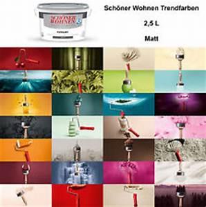 Farbpalette Wandfarbe Grün : sch ner wohnen farbe ebay ~ Indierocktalk.com Haus und Dekorationen