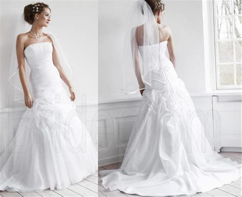 White/ivory Strapless Wedding Dresses Ball Bridal Gown Off