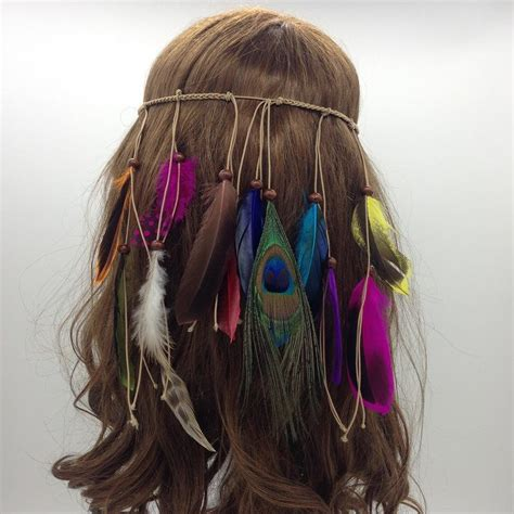 how to make indian hair styles feather headdress hippy indian feather headband festival 8791