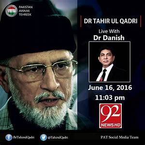 Watch Live & Exclusive Interview of Dr Tahir-ul-Qadri with ...