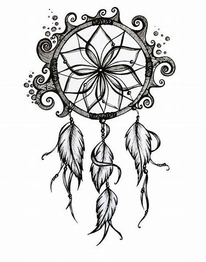 Drawing Dreamcatcher Dream Catcher Drawings Ink Tattoos
